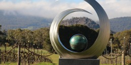 Art in the Vines at Hanging Rock Ben Fasham Sculpture uai