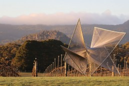 Art in the Vines at Hanging Rock Winery Matt Harding sculpture uai