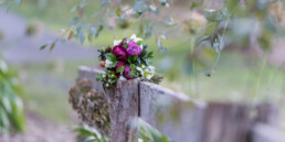 MACEDON RANGES HOTEL AND SPA Flowers on fence blurred uai