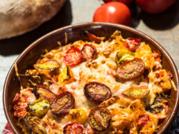 Tomato Basil Pie uai
