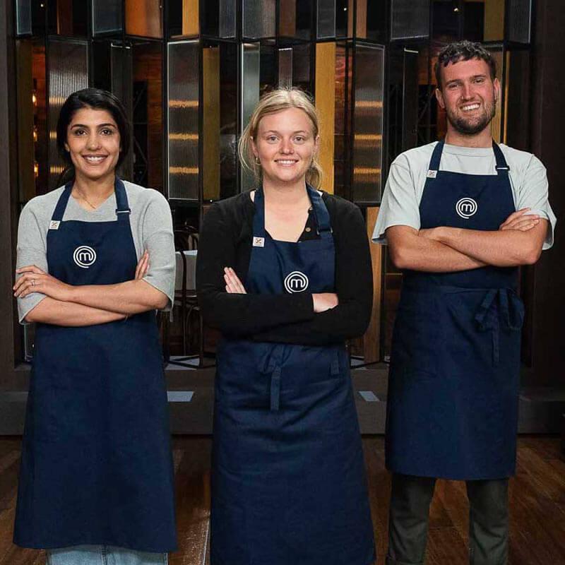Depinder, Sabina and Conor, Master Chef Australia